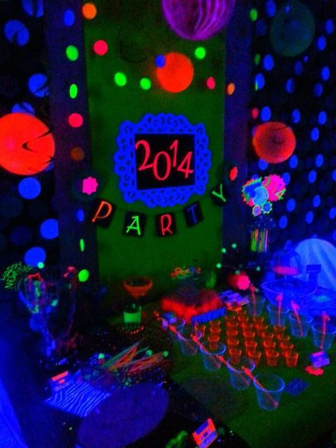 be unique and throw a glow in the dark new years party this year