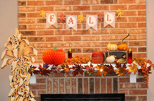 Image result for fall fireplace