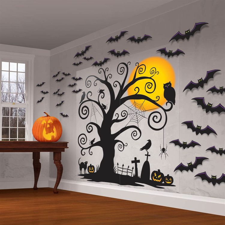 Scary Halloween Giant Hanging Wall Party Decorations Over 5 Feet High 6 Designs