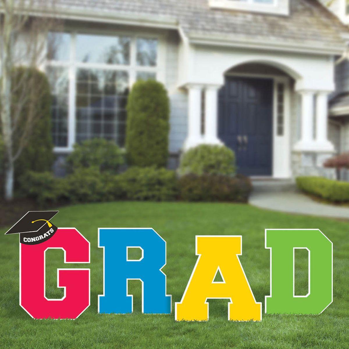 Grad Yard Sign Graduation Yard Stakes Windy City Novelties