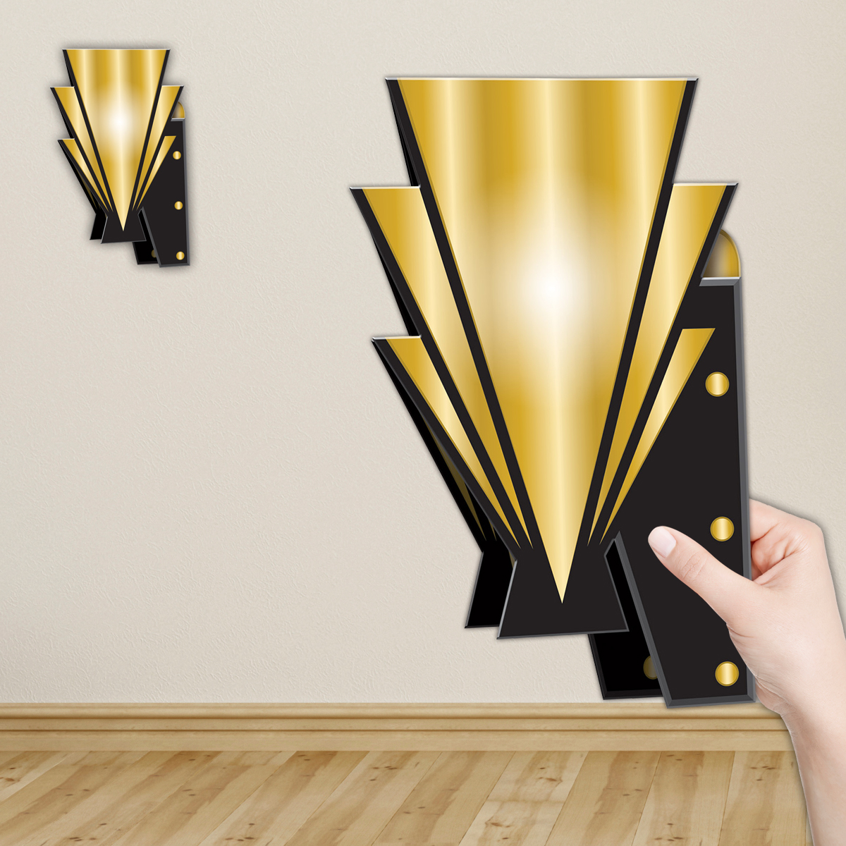 Roaring 20\'s Art Deco Wall Sconces