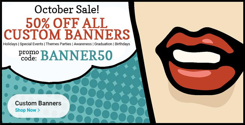 Custom Banner Sale