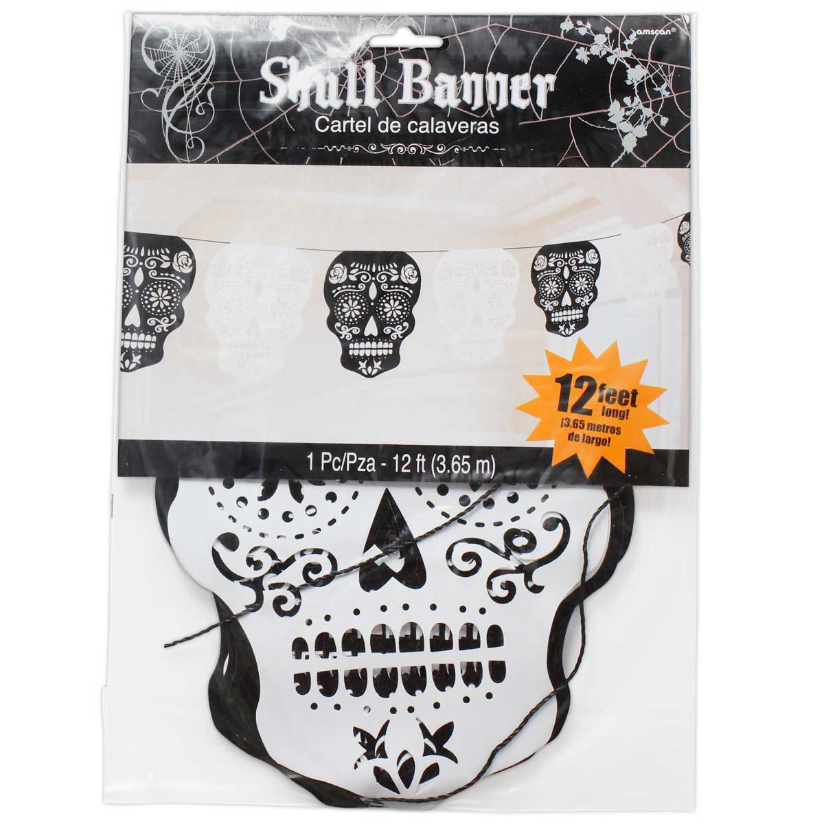 Day of the Dead Sugar Skull Banner - 12\'