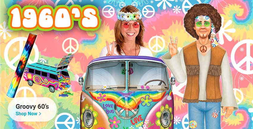 '60s & Hippie Theme Party Supplies