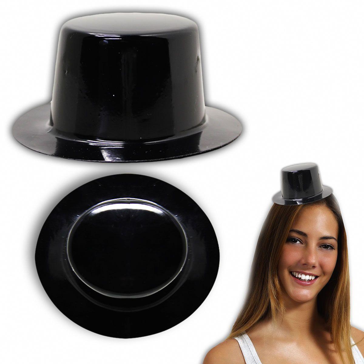 Black Mini Top Hat 12 Pack