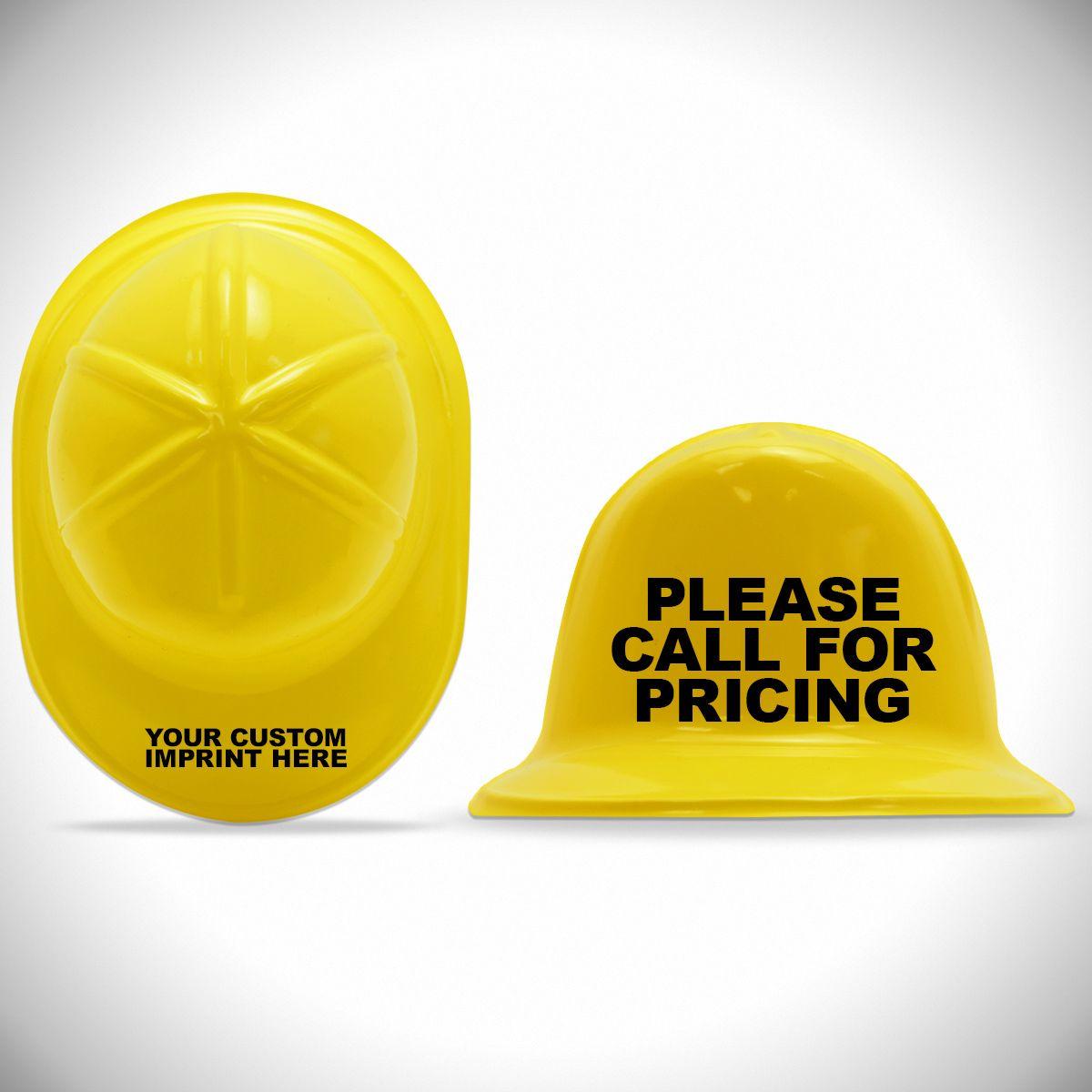 Yellow Plastic Mini Construction Hats 12 Pack Windy City Novelties