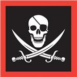 Pirate Party Beverage Napkins - 16 Per Unit by Windy City Novelties PAP58004BUN