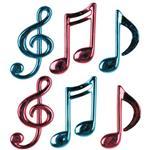 Musical Notes - 6 Per Unit by Windy City Novelties DEC57074UN