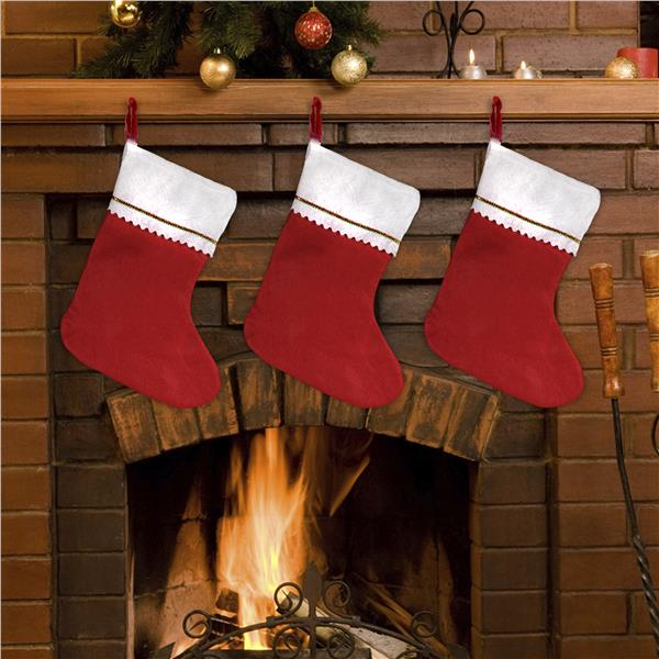 Red Christmas Stocking.Red Felt 15 Christmas Stockings