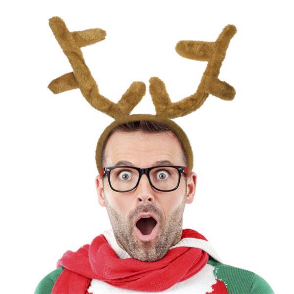 Christmas Headband For Adults.Reindeer Antlers Headband Christmas Headband For Adults