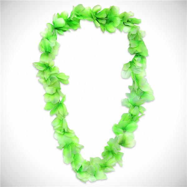 Green silk flower leis 36 12 pack mightylinksfo
