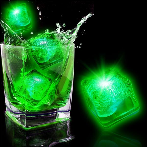 Neon Green Led Ice Cubes 12 Pack