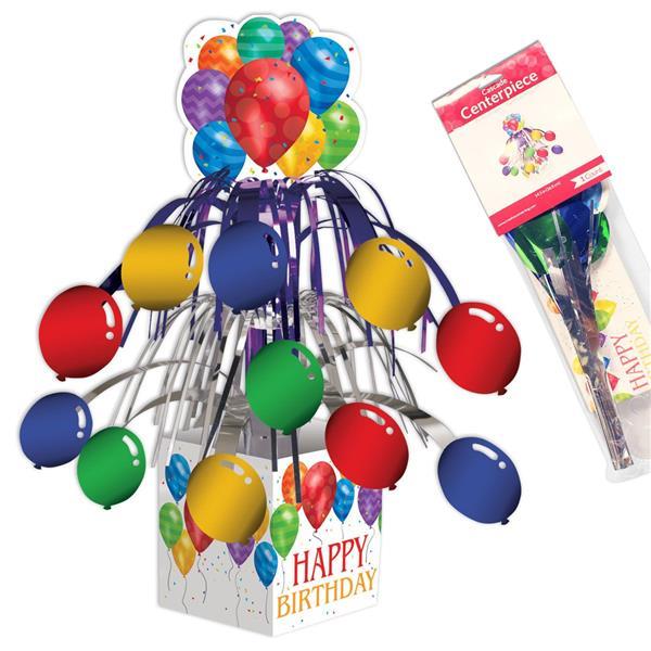 Balloon Blast Happy Birthday Centerpiece
