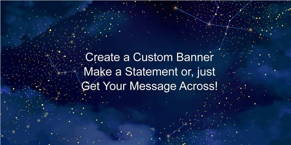 Starry Sky Custom Banner