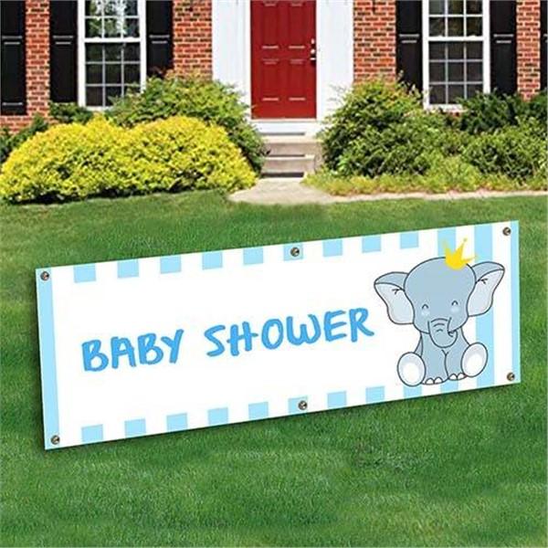 Baby Boy Shower Banner Decoration by Windy City Novelties
