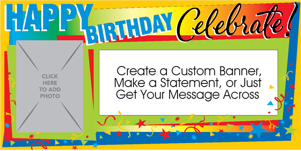 celebrate birthdays photo banner