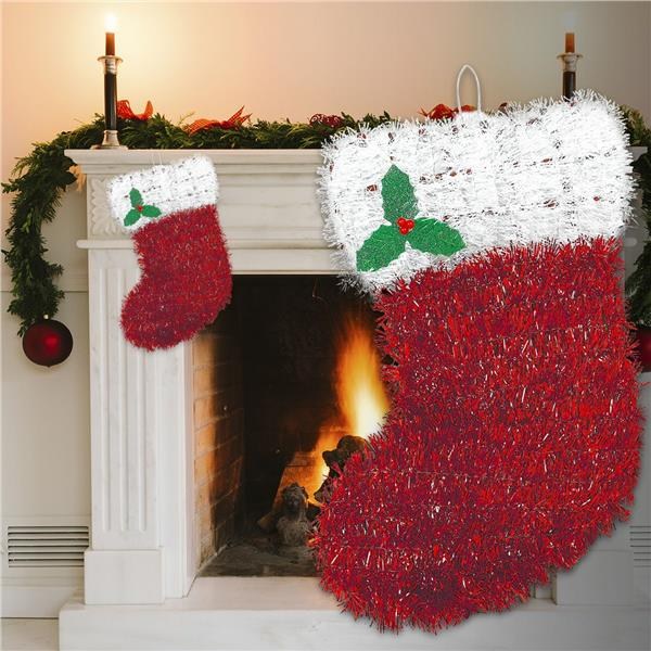christmas stocking decorations tinsel christmas decorations