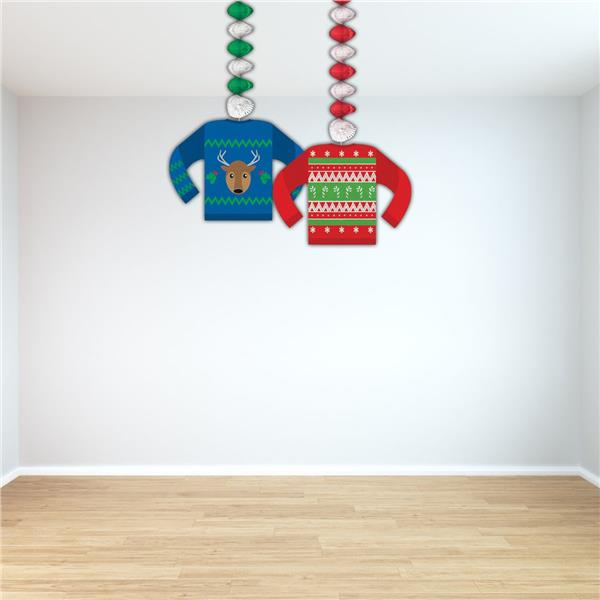 Ugly Sweater Whirl Decorations - 2 Per Unit by Windy City Novelties DEC20883UN