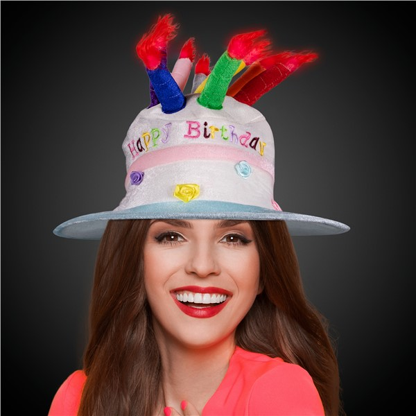 Wondrous Led Birthday Cake Hat Funny Birthday Cards Online Inifofree Goldxyz