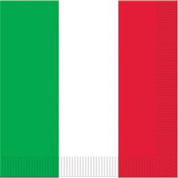 Red, White & Green Lunch Napkins - 16 Per Unit by Windy City Novelties PAP58111UN