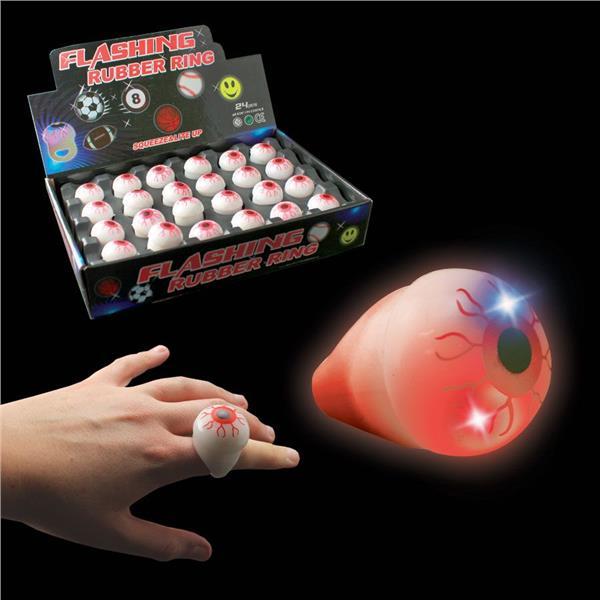 Flashing Eyeball Rings Rubber Light Up Rings