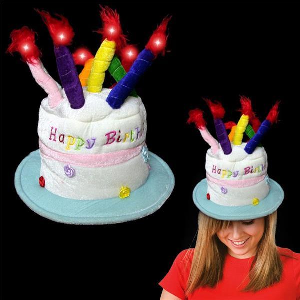 Led Birthday Cake Hat