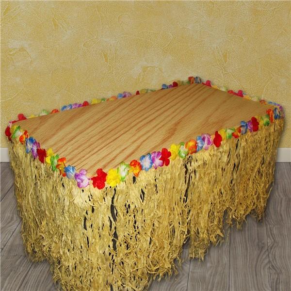 Flowered Grass Table Skirt