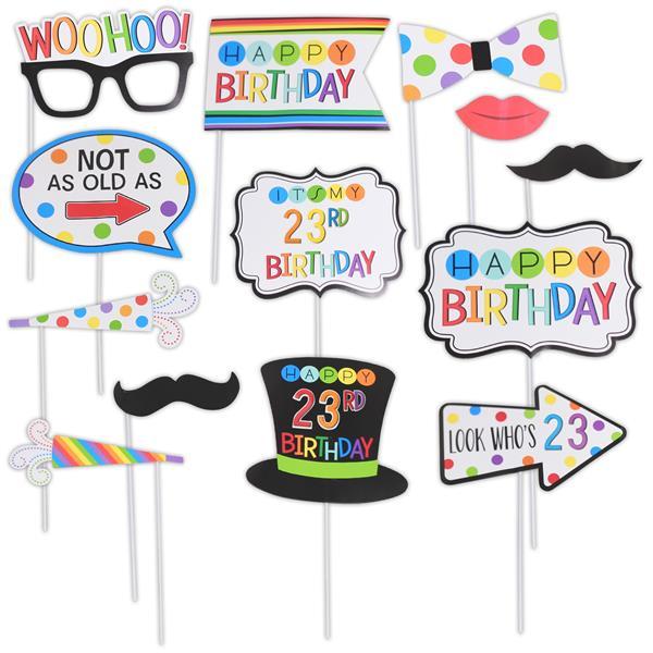 Rainbow Birthday Photo Prop Kit