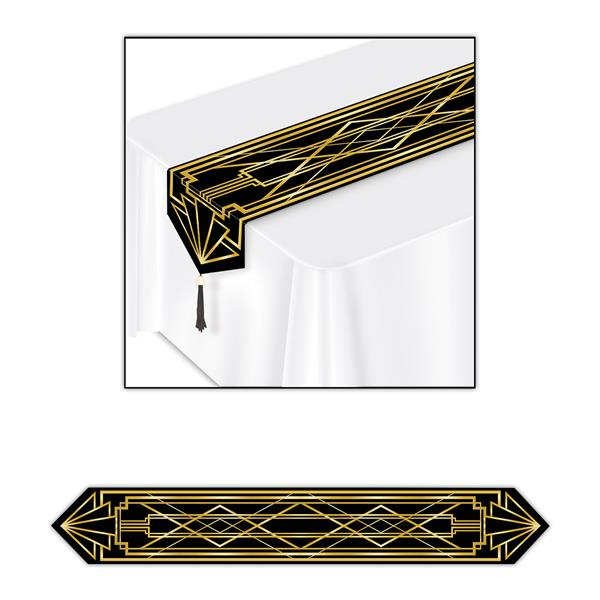 1920s Hollywood Art Deco Table Runner