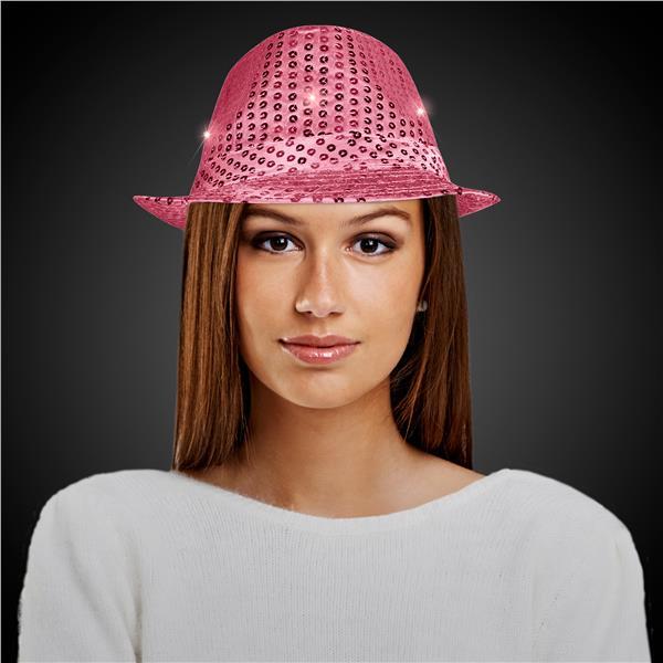28c258391 Pink LED Sequin Fedora