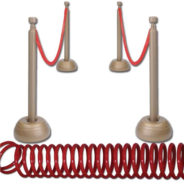 Stanchions For Sale >> Red Rope Stanchion Set