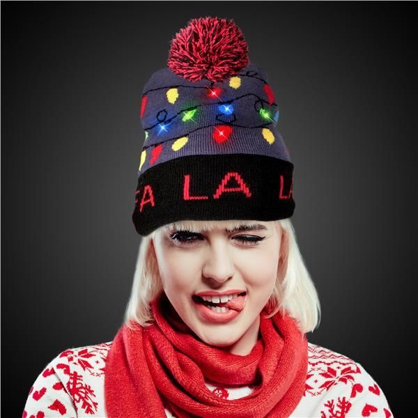 45614e245 ... order fa la la led knit hat beanie 0afc2 96195
