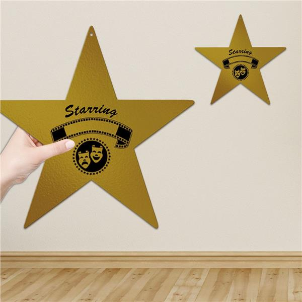awards night gold star cutout