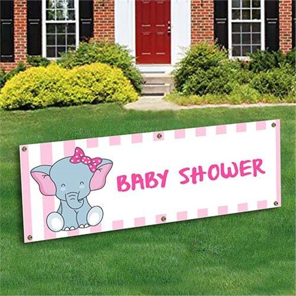 Baby Girl Shower Banner Decoration by Windy City Novelties