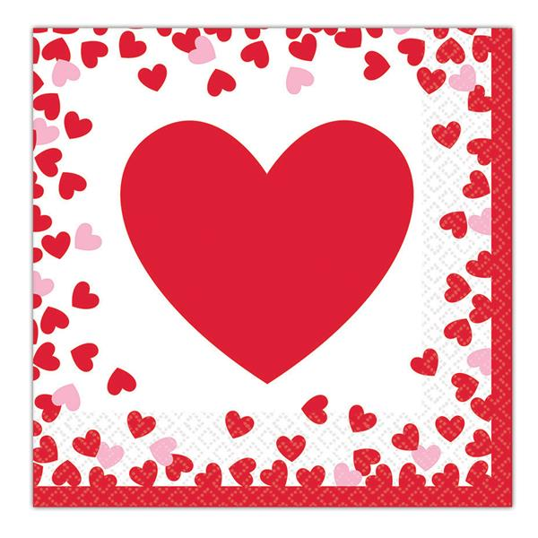 Hearts Lunch Napkins by Windy City Novelties PAP5517LUN