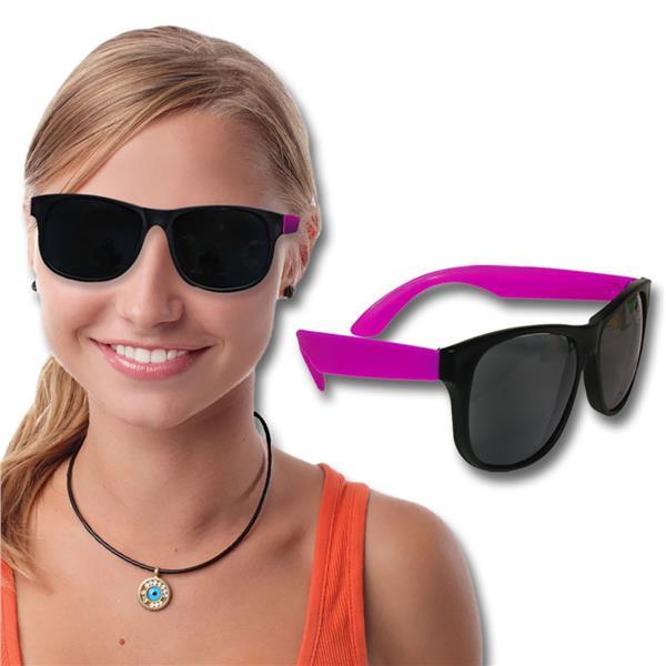 Neon Pink Retro Sunglasses - 12 Pack by Windy City Novelties GLS09-GLS095DZ