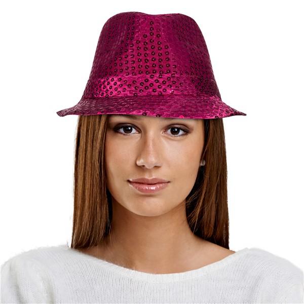 d80e8503c Pink Sequin Fedora Hat