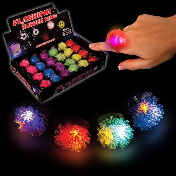 Led Porcupine Jelly Rings Unit Of 24