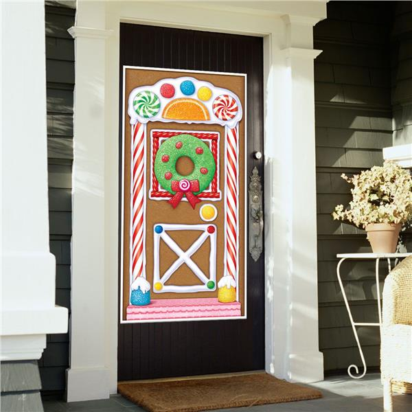 & Gingerbread House Door Cover