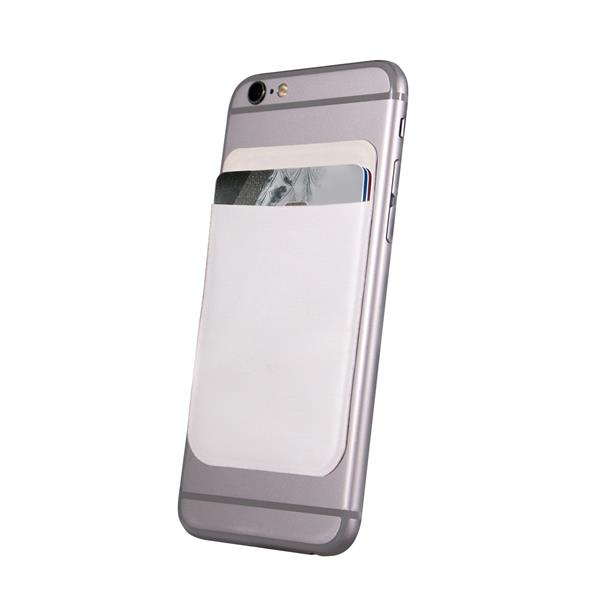 White Cell Phone Card Holder by Windy City Novelties