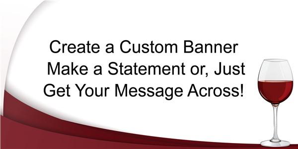 Red Wine Custom Banner