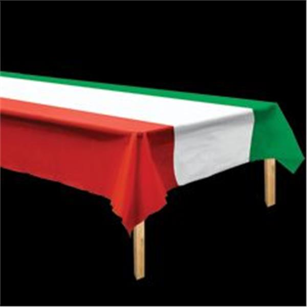 Red, White And Green Table Cover by Windy City Novelties