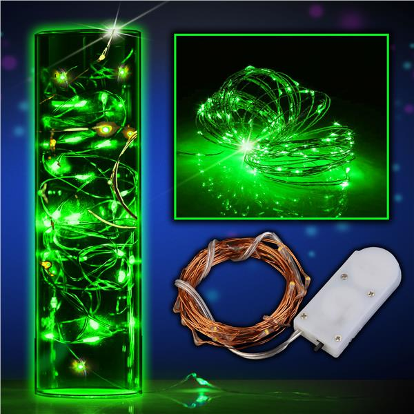 online store 5ee34 adc23 Green LED String Lights