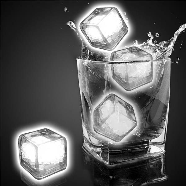 White Liquid Activated Light Up Ice Cubes