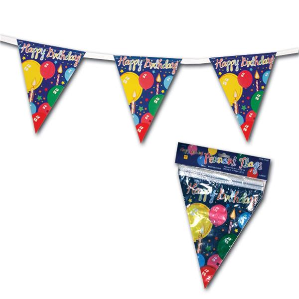 happy birthday pennant banner