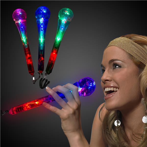 LED Microphones - 12 Pack by Windy City Novelties LIT053DZ