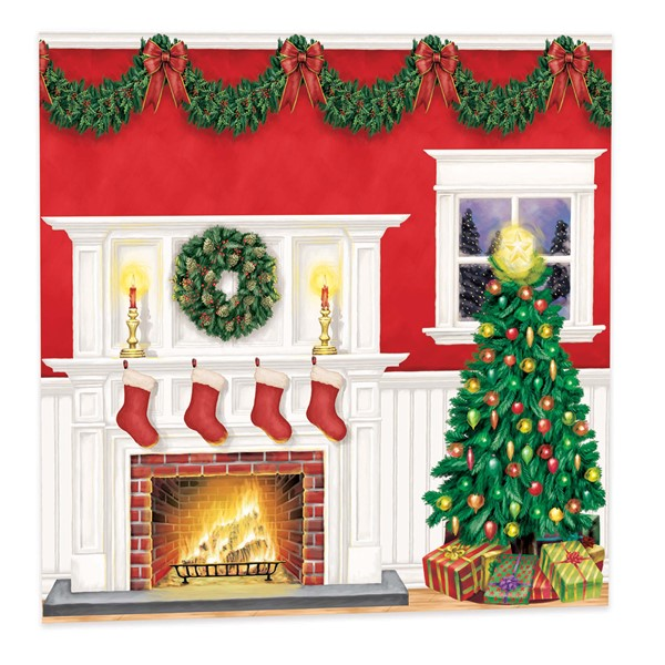 Fireplace Christmas.Christmas Fireplace Scene Setter Kit