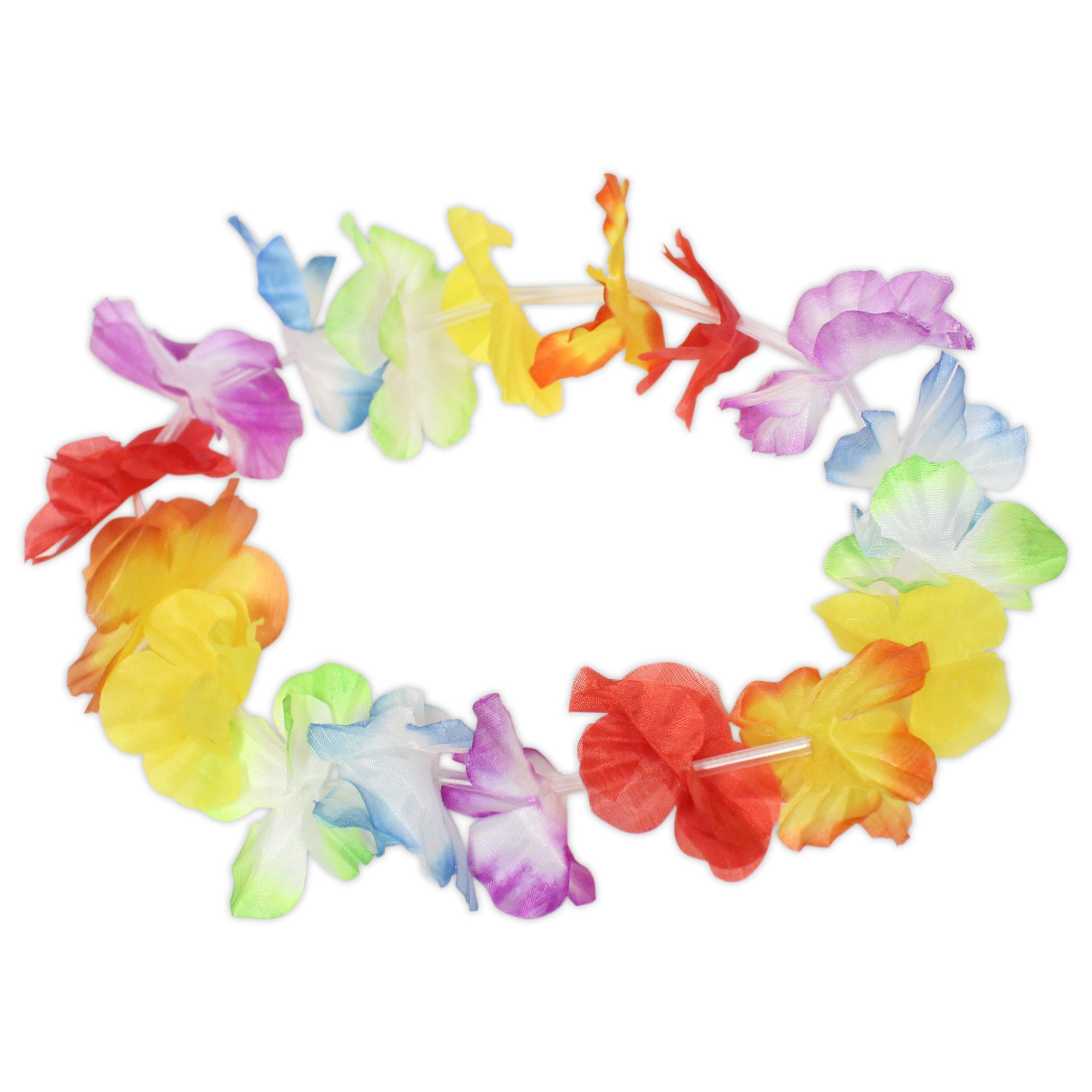 Jumbo Silk Flower Lei Headbands 21 12 Pack