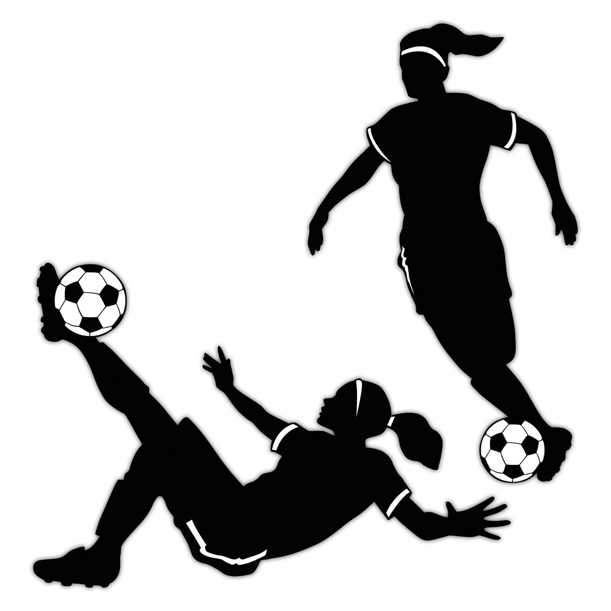 Girl's Soccer Cutouts
